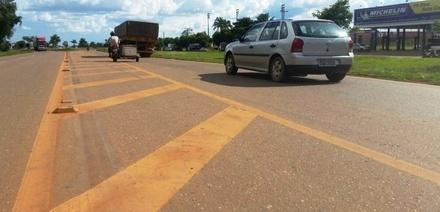 Motorista que passar por marcas de canalização receberá multa pesada